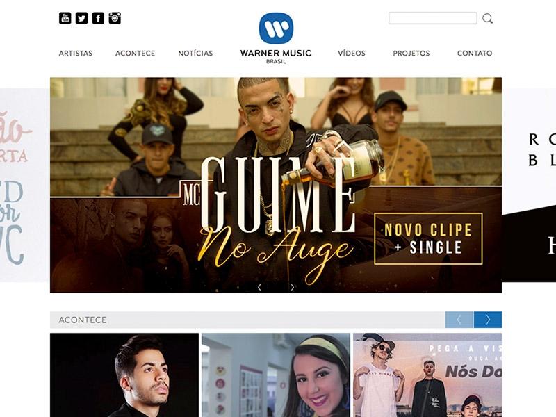 Warner Music (site responsivo)